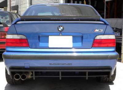3 Series 2Dr - Rear Add On - DTM Fiberwerkz - BMW 3 Series DTM Fiberwerkz Rear Bumper Diffuser - E36-M3-DTM-R