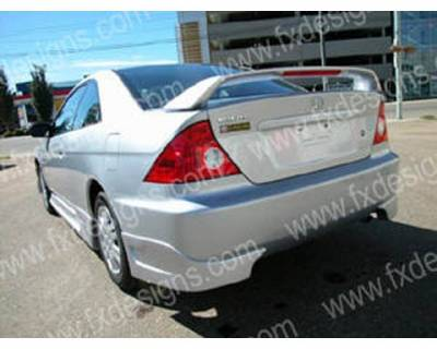 Civic HB - Rear Add On - FX Designs - Honda Civic FX Design Type R Style Rear Skirts - FX-2008