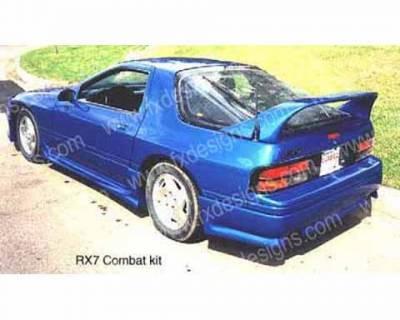 RX7 - Rear Add On - FX Designs - Mazda RX-7 FX Design Rear Valance - FX-799
