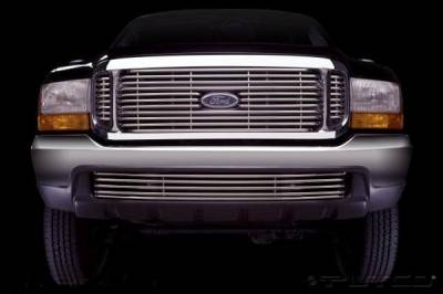 Grilles - Custom Fit Grilles - Putco - Ford Excursion Putco Virtual Tubular Bumper Insert Grille - 32109