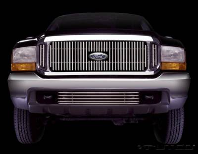 Grilles - Custom Fit Grilles - Putco - Ford Excursion Putco Virtual Tubular Vertical Grille - 36105