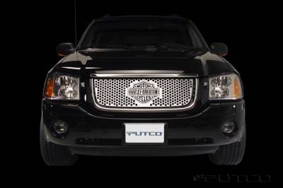 Grilles - Custom Fit Grilles - Putco - GMC Envoy Putco Punch Grille Insert with Bar & Shield - 52133