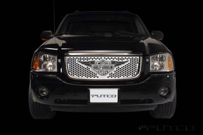 Grilles - Custom Fit Grilles - Putco - GMC Envoy Putco Punch Grille Insert with Wings Logo - 56133