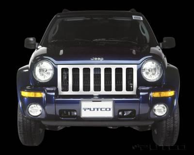 Grilles - Custom Fit Grilles - Putco - Jeep Liberty Putco Designer FX Oval Grille - 64601