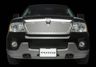 Grilles - Custom Fit Grilles - Putco - Lincoln Navigator Putco Designer FX Bumper Insert Diamond Pattern Grille - 65702