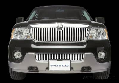Grilles - Custom Fit Grilles - Putco - Lincoln Navigator Putco Designer FX Bumper Insert Vertical Bar Grille - 65704