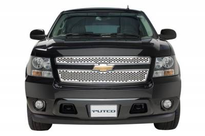 Grilles - Custom Fit Grilles - Putco - Ford Excursion Putco Punch Stainless Steel Grille - 84121