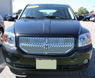 Grilles - Custom Fit Grilles - Putco - Dodge Caliber Putco Punch Stainless Steel Grille - 84171
