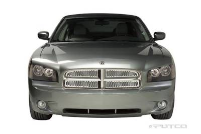 Grilles - Custom Fit Grilles - Putco - Dodge Charger Putco Punch Stainless Steel Main Grille - 84333