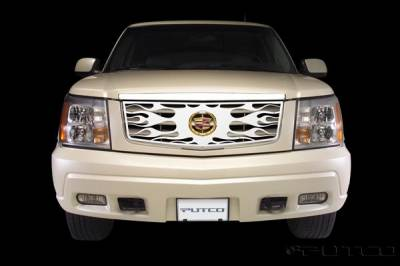 Grilles - Custom Fit Grilles - Putco - Cadillac Escalade Putco Flaming Inferno Stainless Steel Grille - 89115