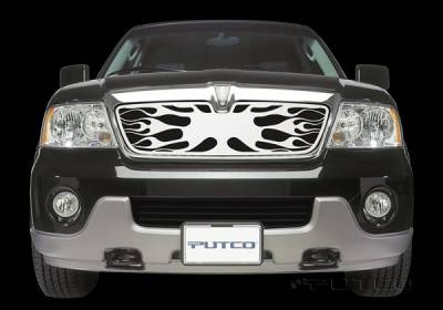 Grilles - Custom Fit Grilles - Putco - Lincoln Navigator Putco Flaming Inferno Stainless Steel Grille - 89117