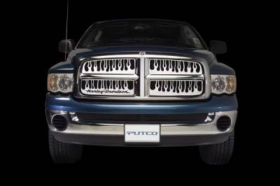 Grilles - Custom Fit Grilles - Putco - Ford Excursion Putco Flaming Inferno Stainless Steel Grille - 89121
