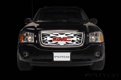 Grilles - Custom Fit Grilles - Putco - GMC Envoy Putco Flaming Inferno Stainless Steel Grille - 89133