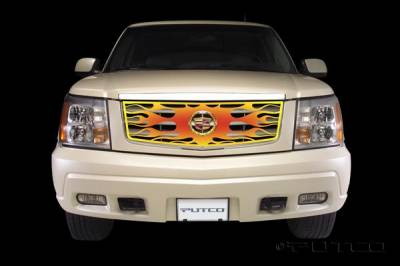 Grilles - Custom Fit Grilles - Putco - Cadillac Escalade Putco Flaming Inferno Stainless Steel Grille - 4 Color - 89315