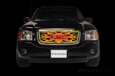 Grilles - Custom Fit Grilles - Putco - GMC Envoy Putco Flaming Inferno Stainless Steel Grille - 4 Color - 89336