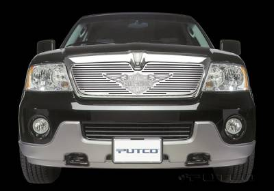Grilles - Custom Fit Grilles - Putco - Lincoln Navigator Putco Liquid Grille Insert with Wings Logo - 94117