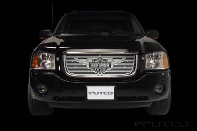 Grilles - Custom Fit Grilles - Putco - GMC Envoy Putco Liquid Grille Insert with Wings Logo - 94133