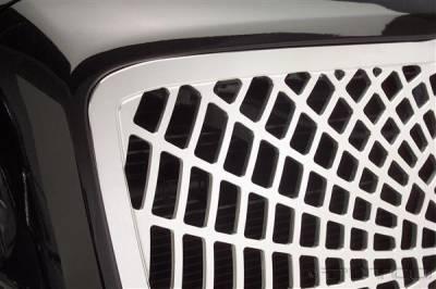 Grilles - Custom Fit Grilles - Putco - Chrysler 300 Putco Liquid 3D Grille - Spiderweb - 96162