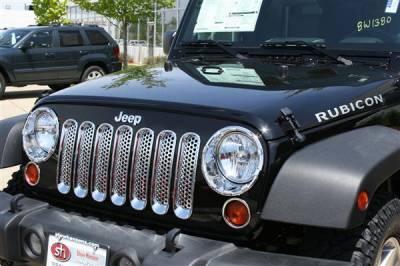 Grilles - Custom Fit Grilles - Putco - Jeep Wrangler Putco Chrome Trim Grille Covers - 400523