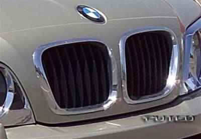 Grilles - Custom Fit Grilles - Putco - BMW X5 Putco Chrome Trim Grille Covers - 403509
