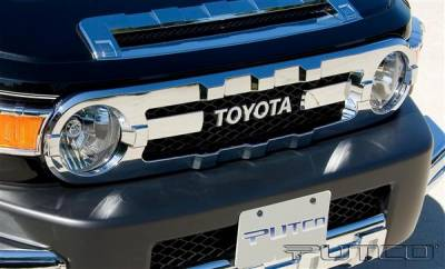 Grilles - Custom Fit Grilles - Putco - Toyota FJ Cruiser Putco Chrome Trim Grille Covers - 403522