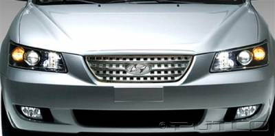 Grilles - Custom Fit Grilles - Putco - Hyundai Sonata Putco Chrome Trim Grille Covers - Radiator Style - 408613
