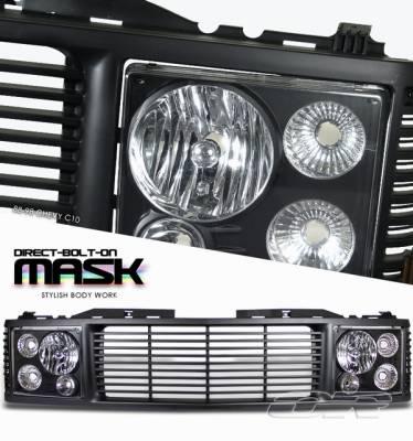 Grilles - Custom Fit Grilles - OptionRacing - Chevrolet C10 Option Racing Grille Mask - 10-15136