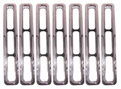 Grilles - Custom Fit Grilles - Omix - Rugged Ridge Grille Inserts - Chrome Trim - 11306-01