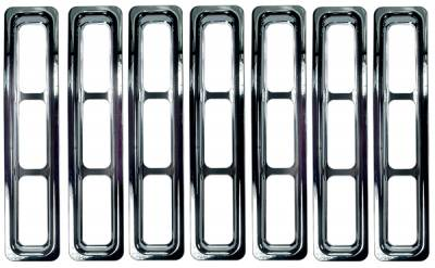 Grilles - Custom Fit Grilles - Omix - Rugged Ridge Grille Inserts - Chrome Trim - 11306-02