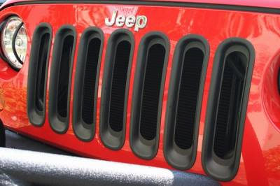 Grilles - Custom Fit Grilles - Omix - Rugged Ridge Grille Inserts with Trim - 11306-3