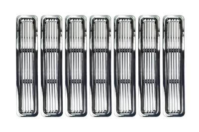Grilles - Custom Fit Grilles - Omix - Rugged Ridge Billet Grille Inserts - Chrome Trim - 11401-02