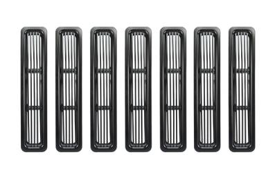 Grilles - Custom Fit Grilles - Omix - Rugged Ridge Billet Grille Inserts - Black Trim - 11401-03