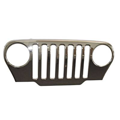 Grilles - Custom Fit Grilles - Omix - Omix Grille Cover - Chrome - 12033-01