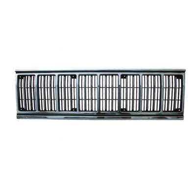Grilles - Custom Fit Grilles - Omix - Omix Grille Insert - Black & Chrome - 12035-3