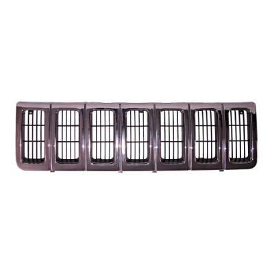 Grilles - Custom Fit Grilles - Omix - Omix Grille - Chrome Dark & Argent - 12037-14