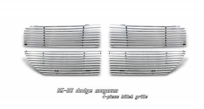 Grilles - Custom Fit Grilles - OptionRacing - Dodge Magnum Option Racing Billet Grille - 63-17105