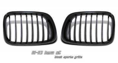 Grilles - Custom Fit Grilles - OptionRacing - BMW X5 Option Racing Sport Grille - Chrome & Black - 64-12148