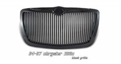 Grilles - Custom Fit Grilles - OptionRacing - Chrysler 300 Option Racing Vertical Sport Grille - 64-16124