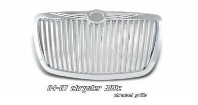 Grilles - Custom Fit Grilles - OptionRacing - Chrysler 300 Option Racing Vertical Sport Grille - 64-16125