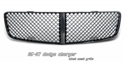 Grilles - Custom Fit Grilles - OptionRacing - Dodge Charger Option Racing Diamond Mesh Sport Grille - 64-17126