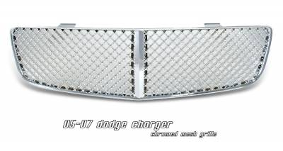 Grilles - Custom Fit Grilles - OptionRacing - Dodge Charger Option Racing Diamond Mesh Sport Grille - 64-17127