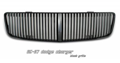 Grilles - Custom Fit Grilles - OptionRacing - Dodge Charger Option Racing Vertical Sport Grille - 64-17128