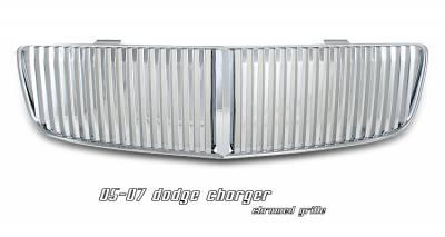 Grilles - Custom Fit Grilles - OptionRacing - Dodge Charger Option Racing Vertical Sport Grille - 64-17129