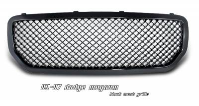 Grilles - Custom Fit Grilles - OptionRacing - Dodge Magnum Option Racing Diamond Mesh Sport Grille - 64-17130