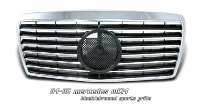 Grilles - Custom Fit Grilles - OptionRacing - Mercedes-Benz E Class Option Racing Sport Grille - 64-32155