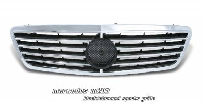 Grilles - Custom Fit Grilles - OptionRacing - Mercedes-Benz C Class Option Racing Sport Grille - 64-32166