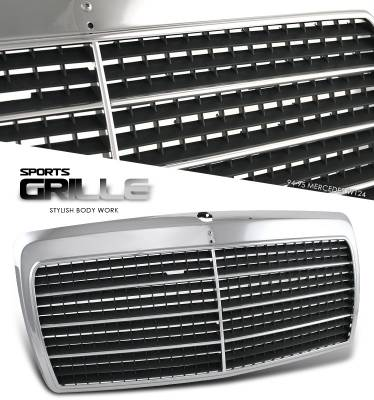 Grilles - Custom Fit Grilles - OptionRacing - Mercedes-Benz E Class Option Racing Sport Grille - 64-32189
