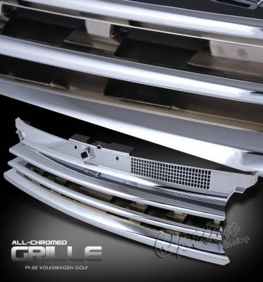 Grilles - Custom Fit Grilles - OptionRacing - Volkswagen Golf Option Racing Sport Grille - Performance Style - 64-45195