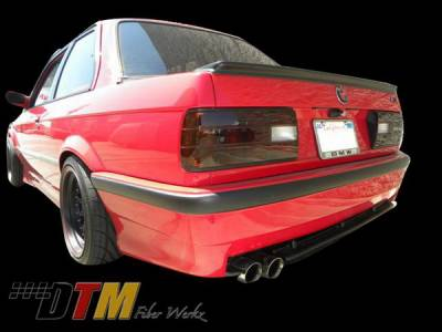 3 Series 4Dr - Rear Bumper - DTM Fiberwerkz - BMW 3 Series DTM Fiberwerkz M3 Style Rear Bumper - E30-E36-M3