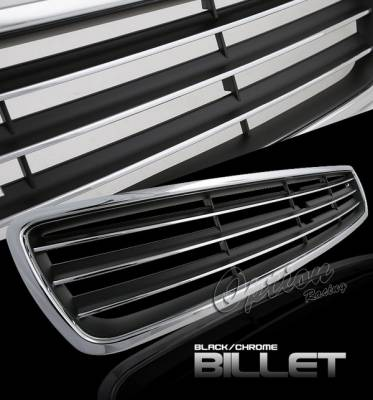 Grilles - Custom Fit Grilles - OptionRacing - Audi A4 Option Racing Chrome Grille - Chrome - 1PC - 65-11390